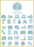 Hotel icons set design concept Royalty Free Stock Photo