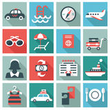 Hotel icons. Set of 16 Hotel icons. Flat design Vector Illustration