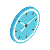 Blue wall clock icon, isometric 3d style  Stock Image