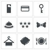 Hotel icons set Stock Image