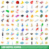 100 hotel icons set, isometric 3d style. 100 hotel icons set in isometric 3d style for any design vector illustration vector illustration