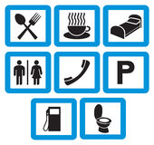 Hotel icons set Stock Photography