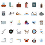Hotel icons. Set of  retro vector hotel icons Royalty Free Stock Photos