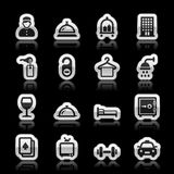 Hotel icons. Set, vector illustration Stock Photography