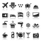 Hotel icons set. Royalty Free Stock Photos