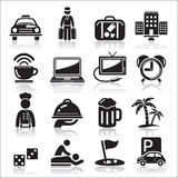 Hotel icons set. Stock Photo