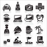 Hotel icons set. Stock Photo
