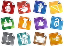 Free Hotel Icons - Sticker Set Stock Images - 9990534