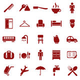 Hotel icons. Vector image of a collection of hotel icons Stock Photo