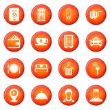 Hotel icons vector set Stock Images