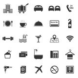 Hotel icons on white background Stock Photo