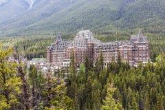 Hotel II della primavera di Fairmont Banff fotografia stock libera da diritti