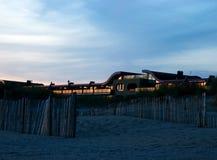 Hotel at  IJmuiden. Summer evening at the Dutch coastline Stock Images