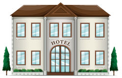 A hotel. Illustration of a hotel on a white background Royalty Free Stock Photo