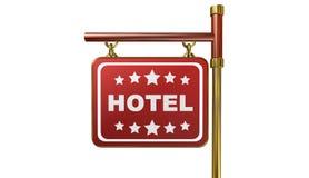 Hotel, ilustração 3d Imagens de Stock