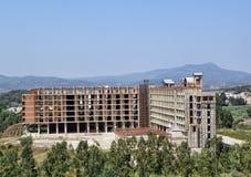 Hotel im Bau Lizenzfreie Stockfotografie