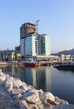 Hotel im Bau Lizenzfreies Stockfoto