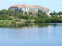 Hotel im Varadero-Strand stockfoto