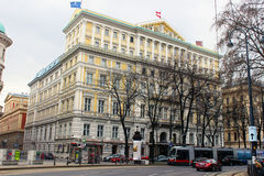 Hotel Imperial (Vienna/Austria). Hotel imperial, a famous luxury hotel in Vienna (Austria Stock Photos