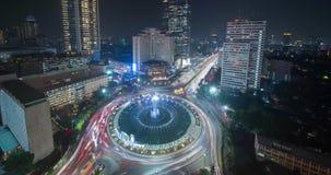Hotel-Indonesien-Karussell mit schönen Lichtern stock video footage