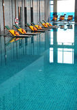Hotel indoor pool. Royalty Free Stock Photos