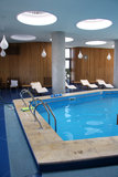 Hotel indoor pool stock photography