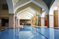Hotel indoor swimming pool Stock Photography