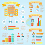 Hotel infographics Royalty Free Stock Images