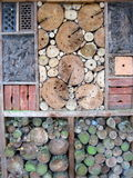 Insect Hotel. wood Stock Photography