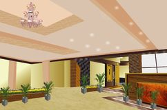 Hotel inside View Beautiful vector illustration
