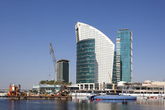 Hotel Intercontinental at Dubai Festival City Stock Photos