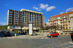Hotel Intercontinental, Modern  Buildings, Paris Street, Prague, Czech Republic Royalty Free Stock Photography