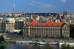 Hotel Intercontinental, Panorama of the Old Town, Prague, Czech Republic Royalty Free Stock Photography