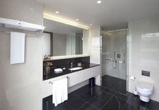 Hotel interior bathroom Stock Photography
