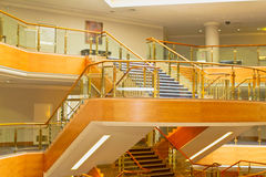 Hotel interior. Luxurious hotel interior and staircase to rooms Royalty Free Stock Image