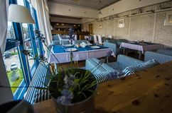 hotel Interior Un restaurante imagen de archivo libre de regalías
