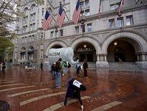 Hotel internacional del triunfo de presidente electo Donald J Fotos de archivo libres de regalías
