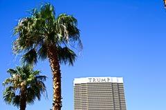 Hotel internacional do trunfo em Las Vegas imagens de stock royalty free