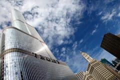 Hotel internacional y torre Chicago del triunfo imágenes de archivo libres de regalías