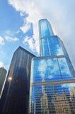 Hotel internacional y torre (Chicago) del triunfo fotografía de archivo libre de regalías