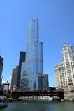 Hotel internacional y torre del triunfo en Chicago Foto de archivo libre de regalías