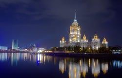 Hotel internazionale Ucraina a Mosca Fotografie Stock Libere da Diritti