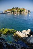 Hotel on island. In Montenegro Royalty Free Stock Photos