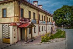 Hotel in Izborsk Lizenzfreies Stockbild