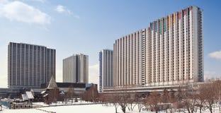 Hotel is in Izmailovo Stock Images