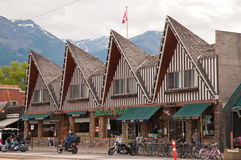 Hotel in Jasper National Park Royalty Free Stock Photos