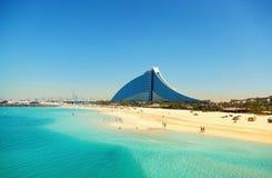 hotel jumeirah Dubaju na plaży Fotografia Royalty Free