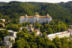 Hotel in Karlovy Vary Stock Photo