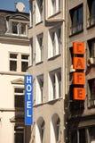 Hotel & Kawiarnia Obrazy Stock