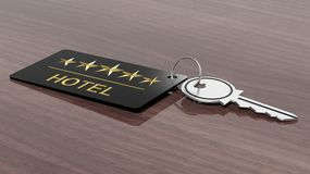 Hotel key with label Stock Photography